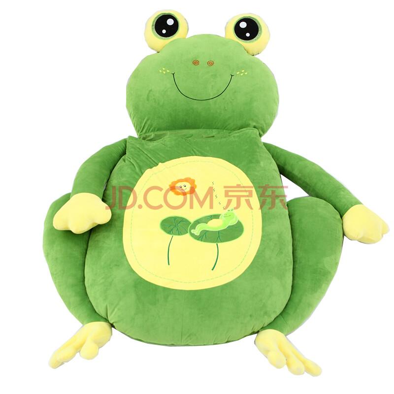 创意卡通动物小熊榻榻米毛绒玩具懒人家居沙发床生日礼物送女生 青蛙