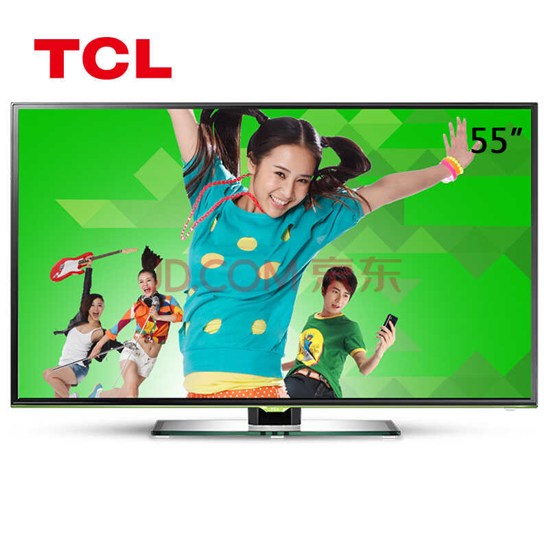 TCL D55A261 55英寸 微信电视 正版视频 内置wifi智能云液晶电视(珠光黑)