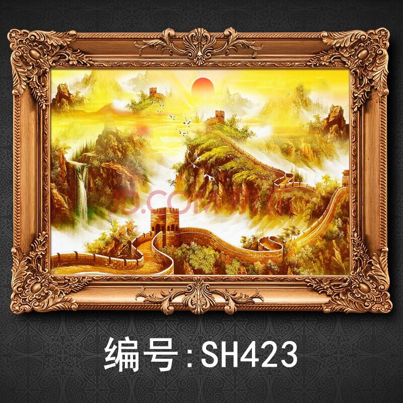 帝诺饰 手绘油画办公室龙抬头 万里长城风景欧式书房装饰壁挂画 sh423