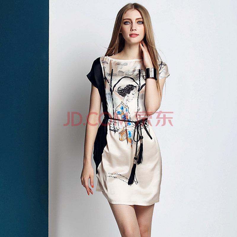 ycms/伊彩漫莎连衣裙 韩版新款侧身袖子拼接裙子 修身