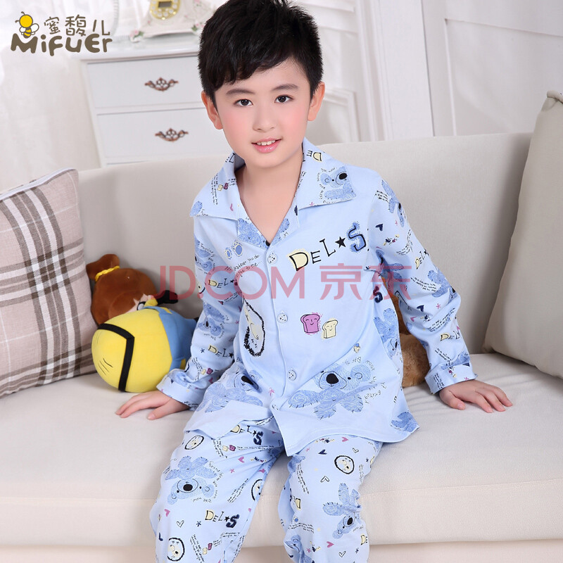 儿童睡衣纯棉男孩女童长袖长裤秋季套装童装亲子装服
