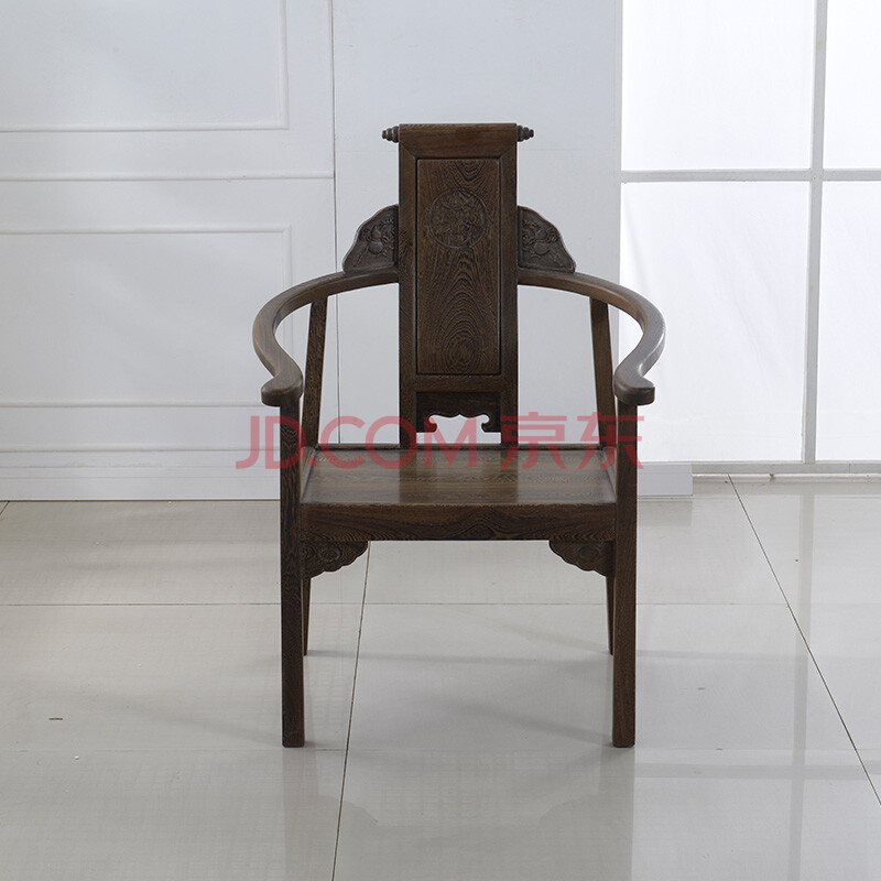 粤顺 实木休闲椅凳子 仿古红木家具椅子板凳 客厅阳台