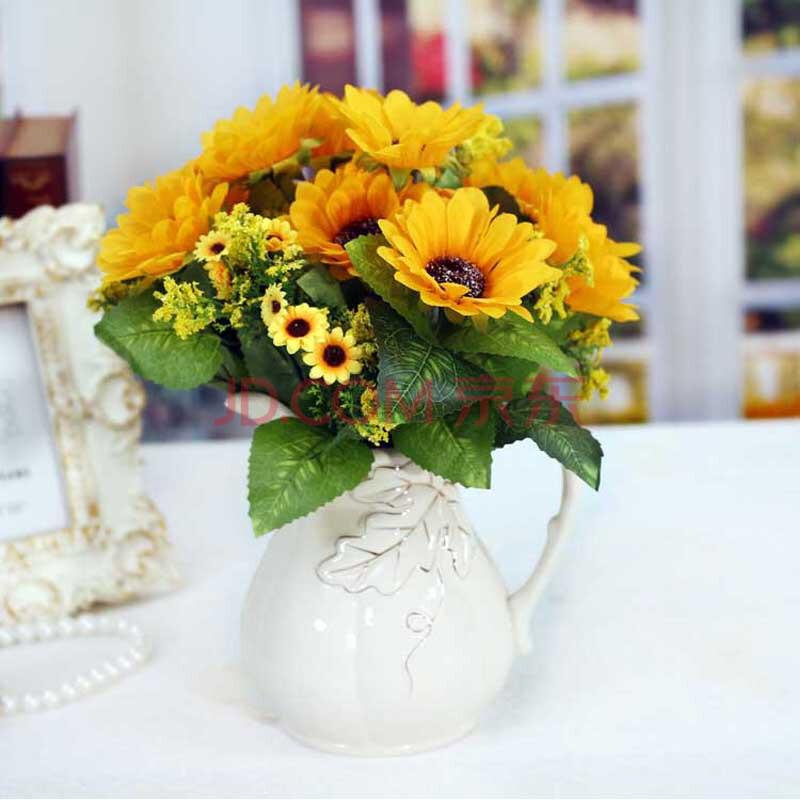 向日葵手绘花盆