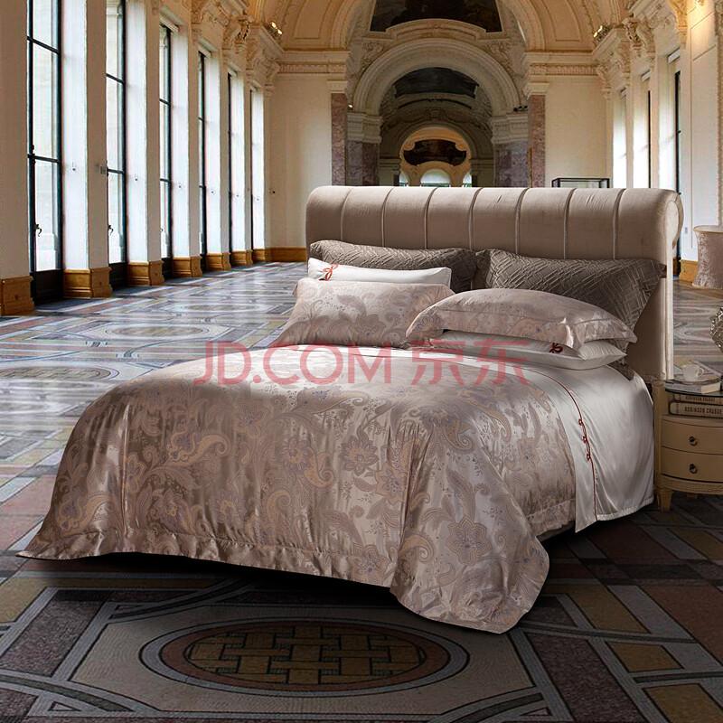 罗卡芙家纺床上用品复古佩兹利花纹古典风格大提花四件套米凯利 实物
