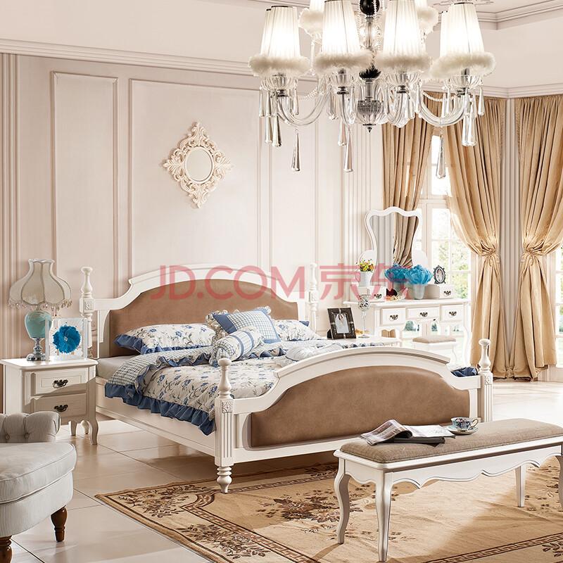 帕萨拉蒂 美式床双人床实木床类 韩式田园床简欧1.8米