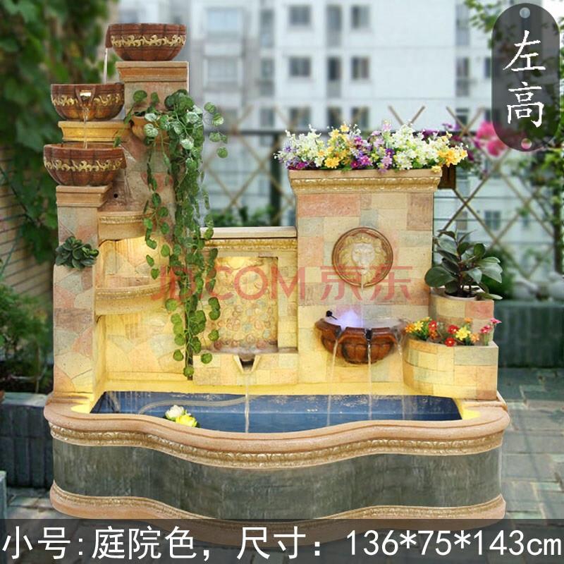大型欧式喷泉流水庭院酒店别墅花园落地水景观鱼池轮图片