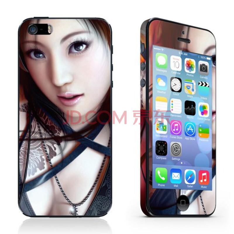 hecc 手机贴膜彩膜 适用于苹果iphone5/5s 5s-016 看眼睛