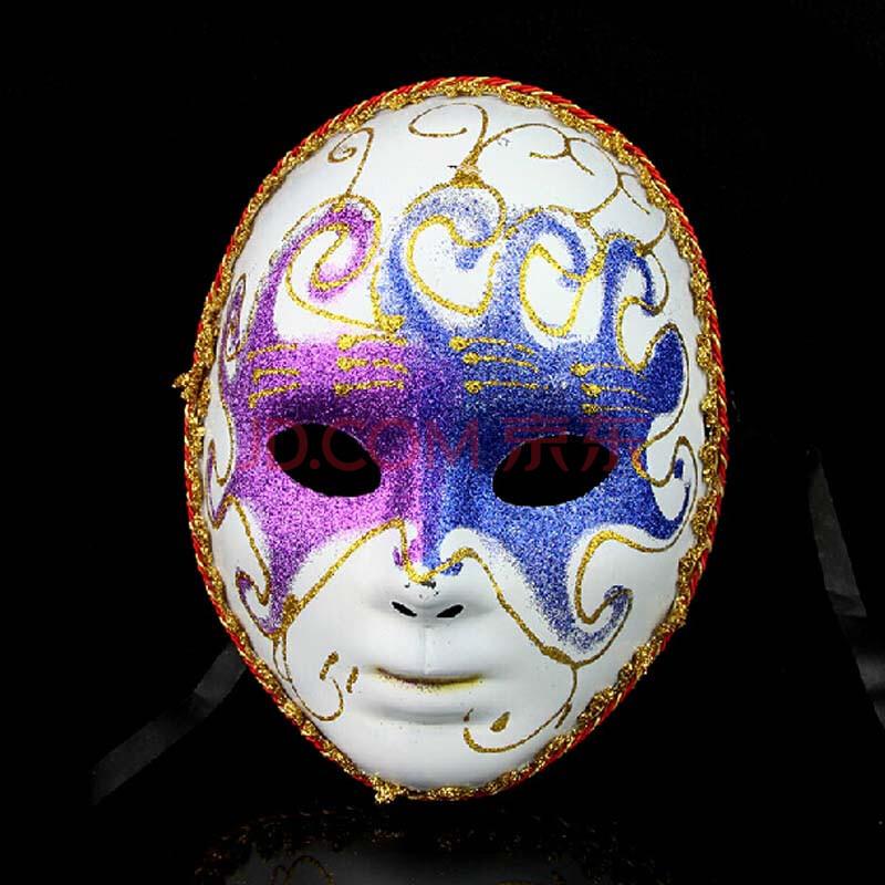盛泉 舞会面具 威尼斯面具 音乐之神主题面具 男女全脸彩绘面具 女款