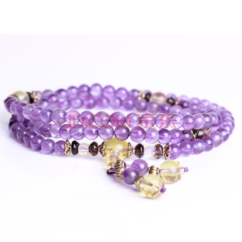 天然水晶 巴西紫水晶手链