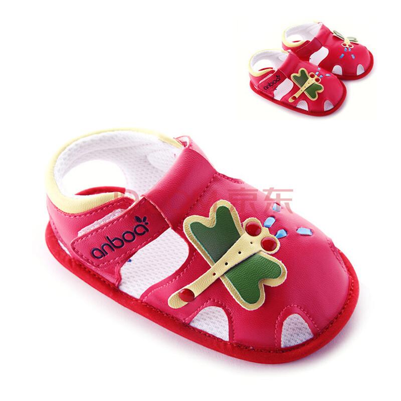 货到付款 安宝儿婴儿鞋0-1岁 女宝宝学步鞋软底