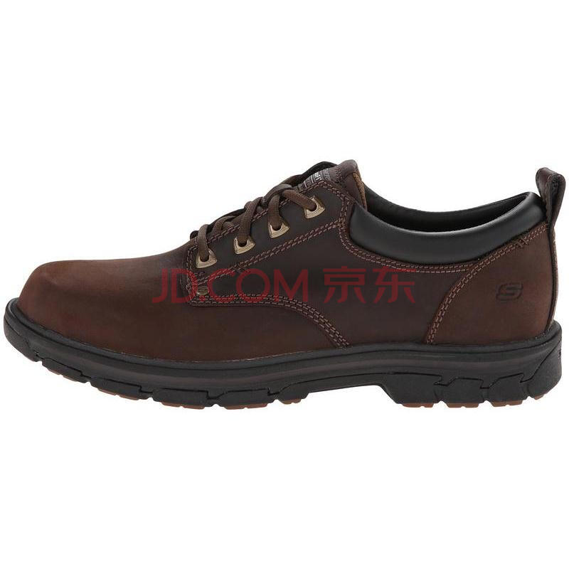 全球购                                    全球购斯凯奇(Skechers) Segment Relaxed 男子日常休闲皮鞋 Brown 2E宽39.5/US7