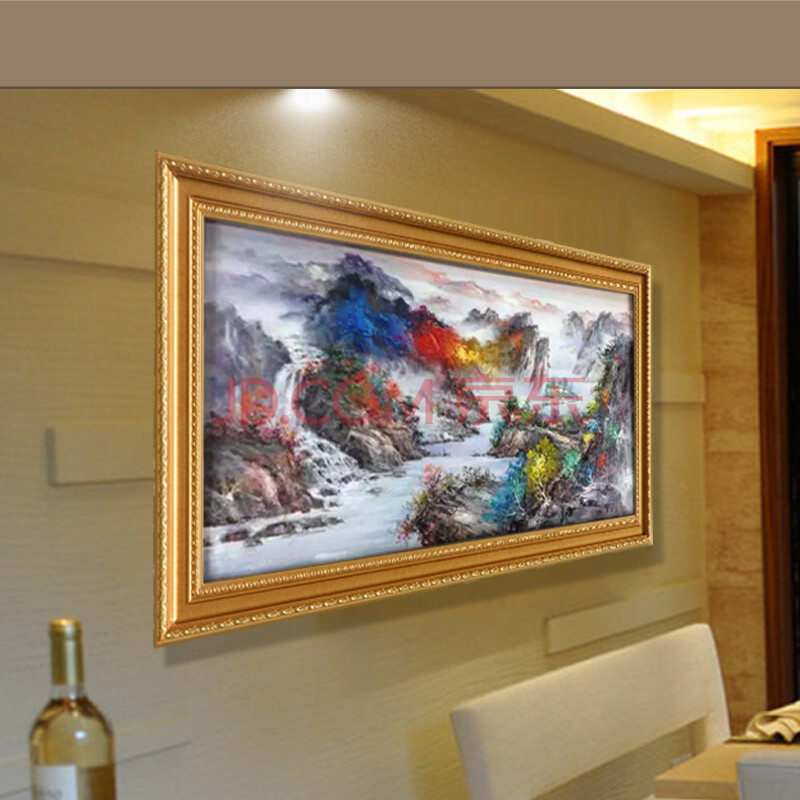 日康 长江三峡画 手绘现代中式高档大厅壁画挂画 客厅