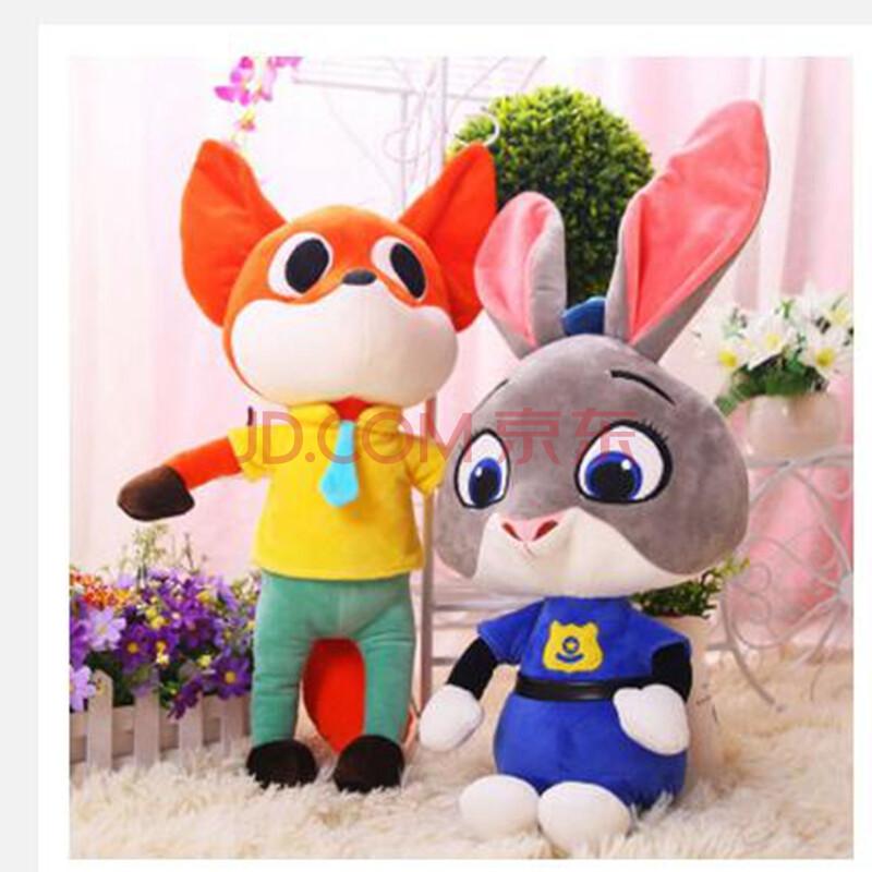 疯狂动物城公仔 兔朱迪 狐尼克毛绒玩具玩偶 动物方城市娃娃送小朋友