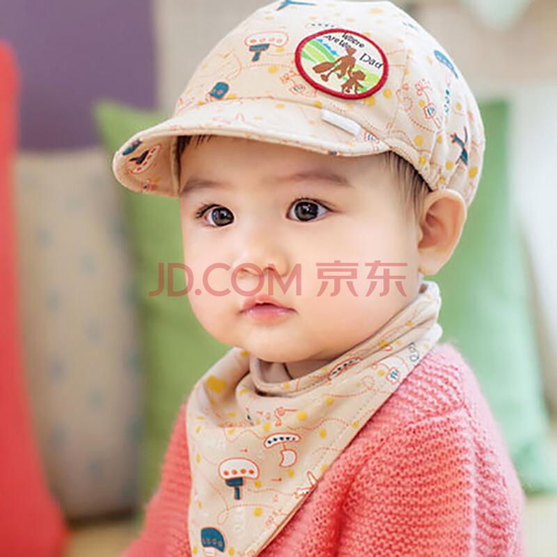 婴儿帽子儿童帽子宝宝帽春季新款鸭舌帽棒球帽三角巾2