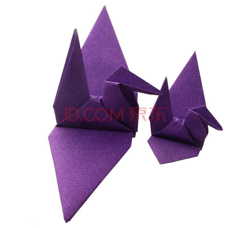 爱惊喜 diy纯手工金粉闪钻千纸鹤折纸折好的大尺寸千纸鹤成品酒吧店面