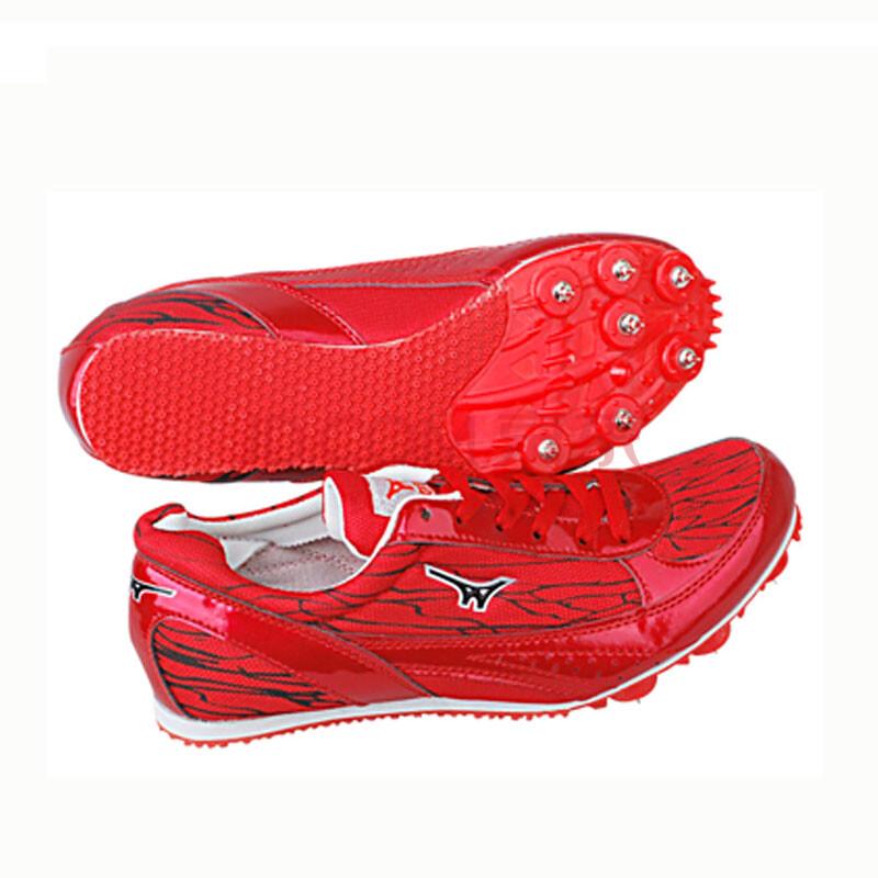 钉鞋囹�a_红色跑钉鞋子钉鞋短跑跑鞋 红色 45