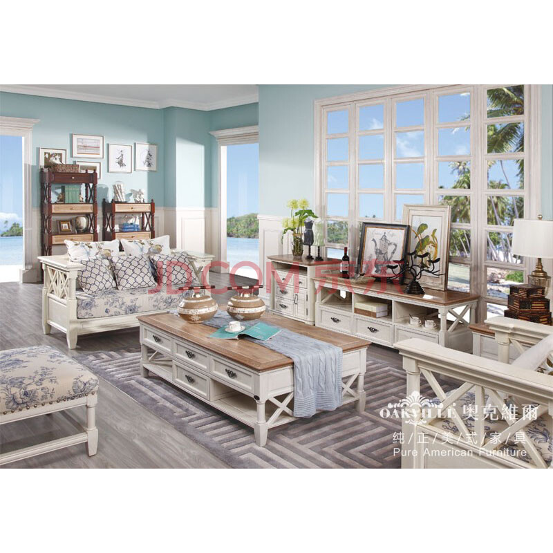 奥克维尔 hs-1003沙发 现代美式家具 沙发组合套装1 2图片