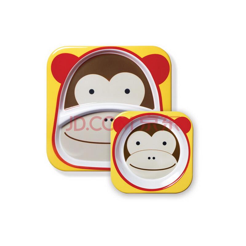 skip hop zoo宝宝餐具儿童餐具宝宝餐盘儿童餐盘可爱动物园餐具组合鲨