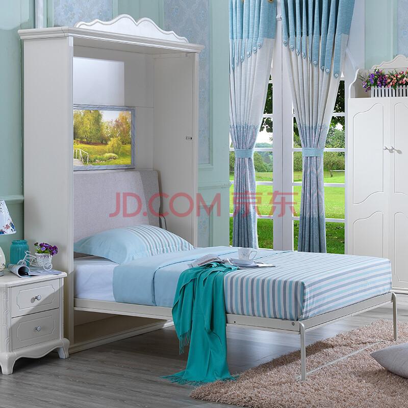 芝安妮 多功能折叠隐形床 韩式田园系列 创意家具壁床图片