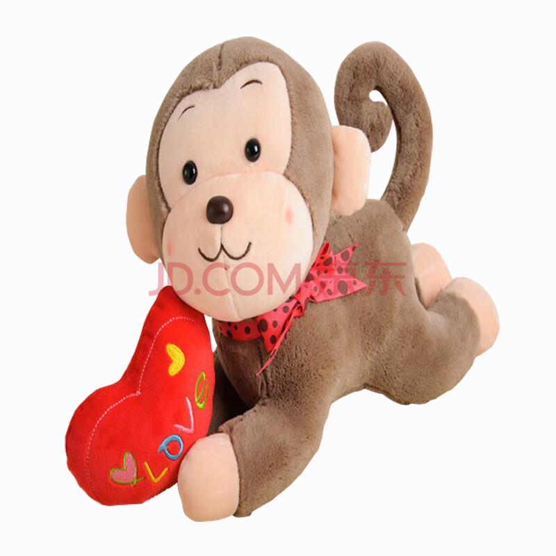 生肖猴年吉祥物毛绒玩具抱枕公仔爱心猴子布娃娃玩偶