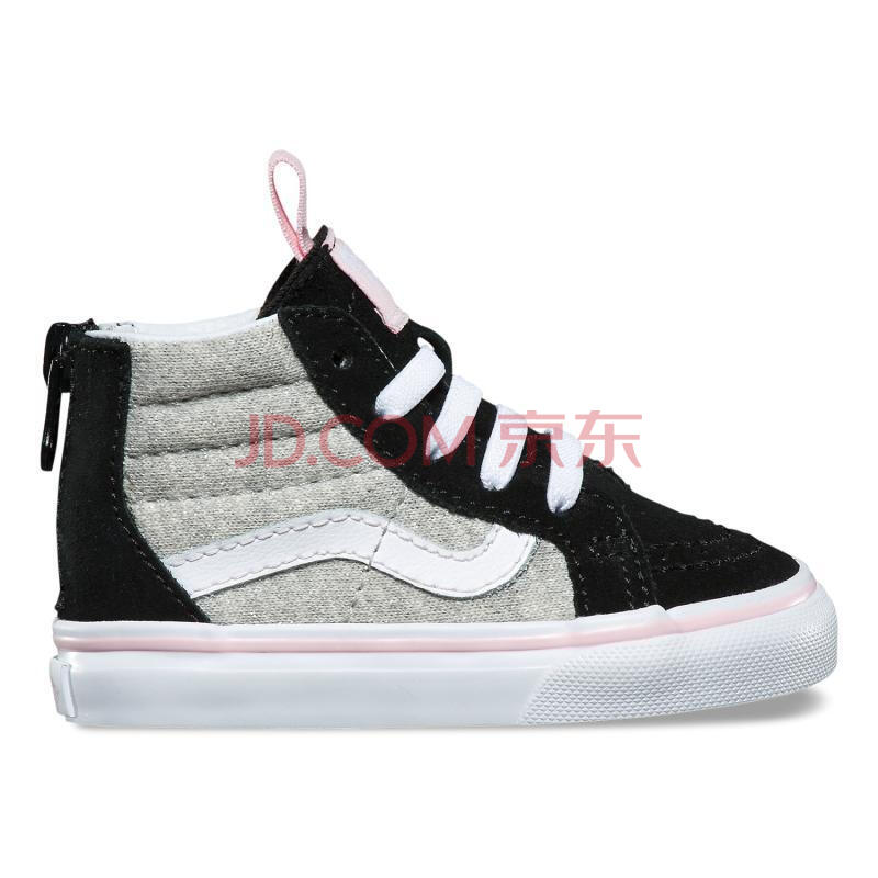 全球�                                    VANS范斯童鞋SK8-Hi后拉�高�托蓍e鞋2R3Q69�胗�嚎� Black/Gray 6.5 Toddlers