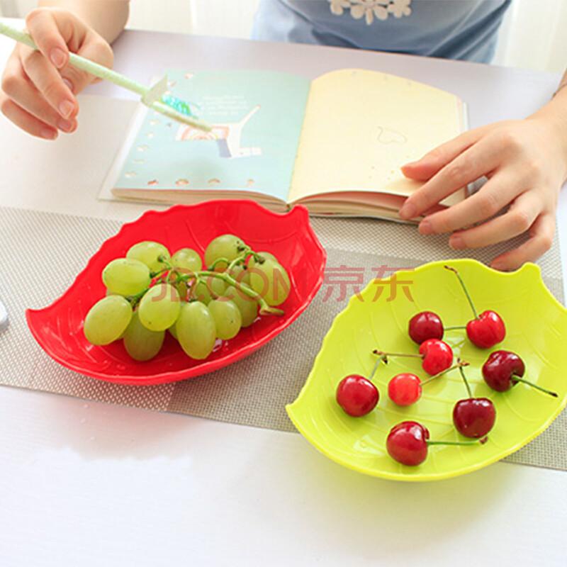 创意树叶造型果盘图片