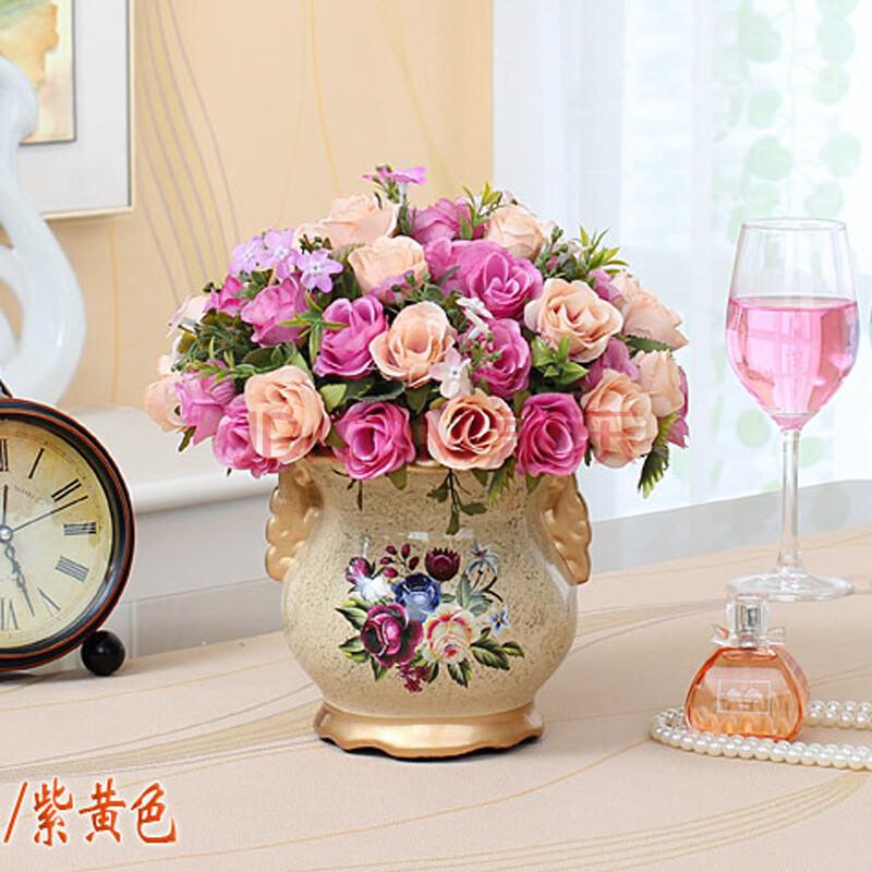 欧式风格客厅装饰花艺套装