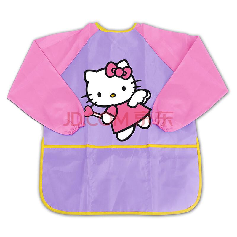 kitty凯蒂猫儿童画画衣罩衣小孩子绘画围裙防水