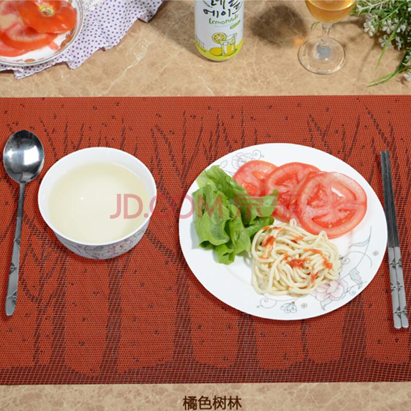 藏乐pvc餐垫 杯垫 碗垫盘垫桌垫 宜家餐垫pvc欧式花纹西餐垫4个装