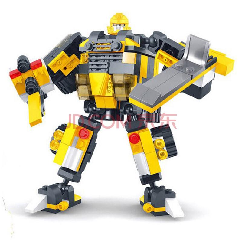 星钻积木变战士儿童拼装组装变形益智开智玩具儿童
