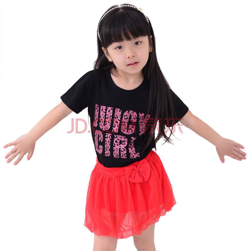 petrel童装女夏装短袖儿童套装韩版女童套裙
