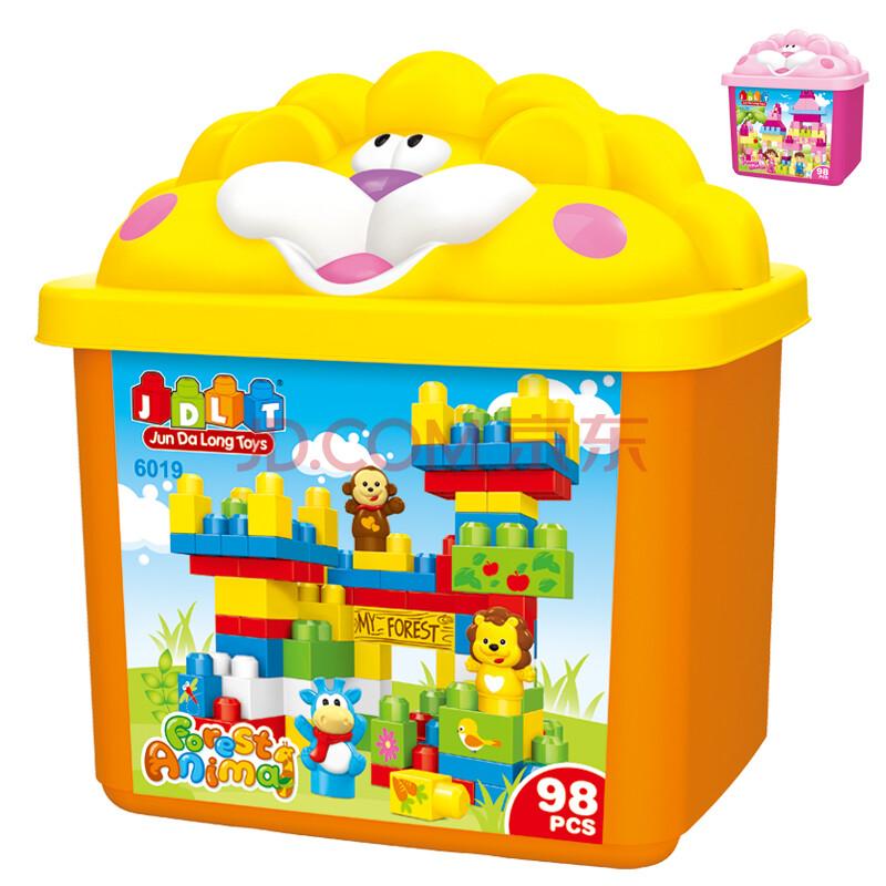 骏达隆积木拼插宝宝方案益智玩具大娃娃桶装幼儿园塑料家区角颗粒图片