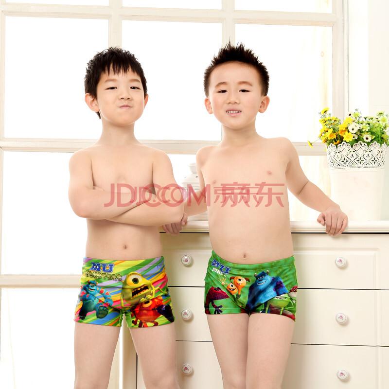 2014新款儿童游泳裤平角卡通游泳裤小男孩游泳装男宝宝学生幼儿沙滩