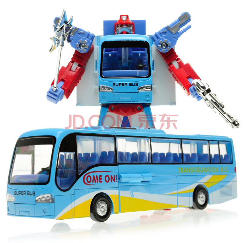 美致变形金刚汽车人合金变形车巴士儿童玩具车变形