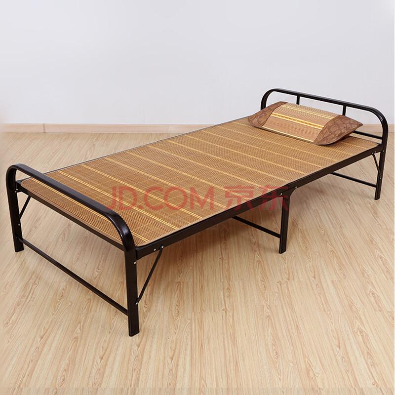 依尔部分顺丰钢木床加固钢架折叠床单人床实木床双人床简易杉木板床