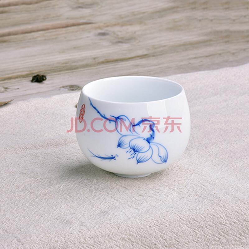 七陶茶杯 新品手绘青花陶瓷品茗杯子 创意手工个人主人茶杯 单杯 青花