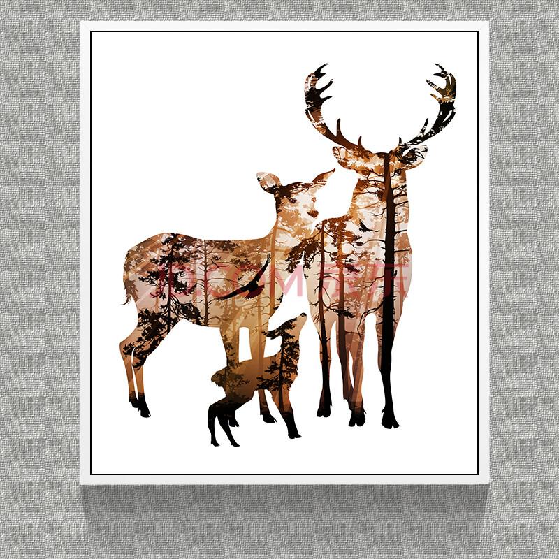 格美奇 北欧风格装饰画客厅三联画欧式餐厅卧室挂画沙发背景墙墙画图片
