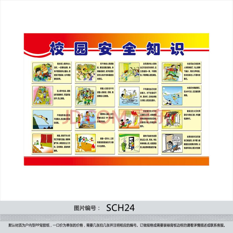 学校安全常识挂图 安全教育漫画 安全宣传版面 校园安全知识sch24