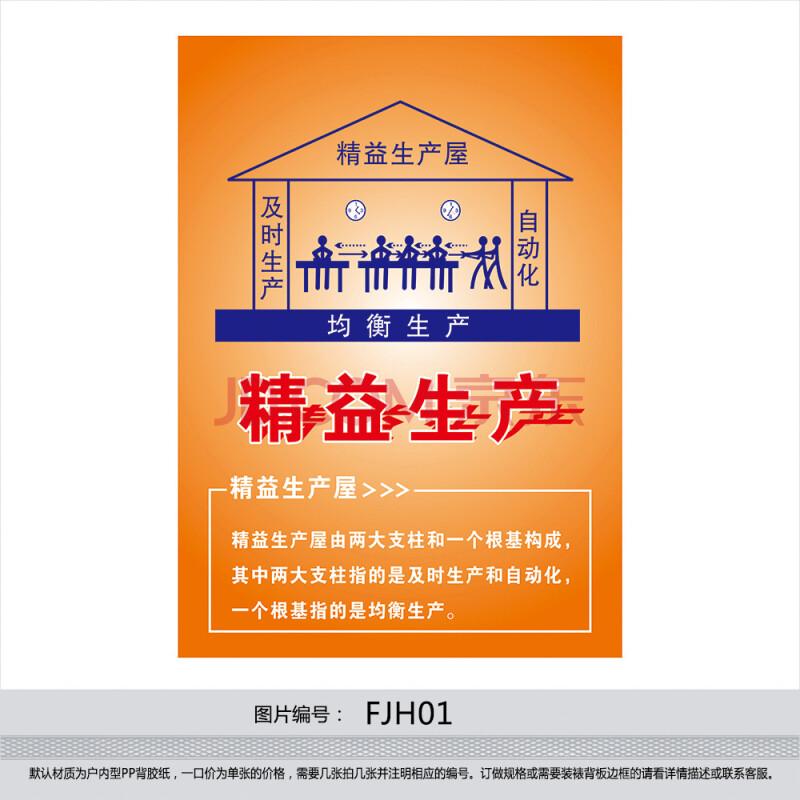 企业精益生产方式挂图 精益宣传画海报 标语贴画 精益生产屋fjh01