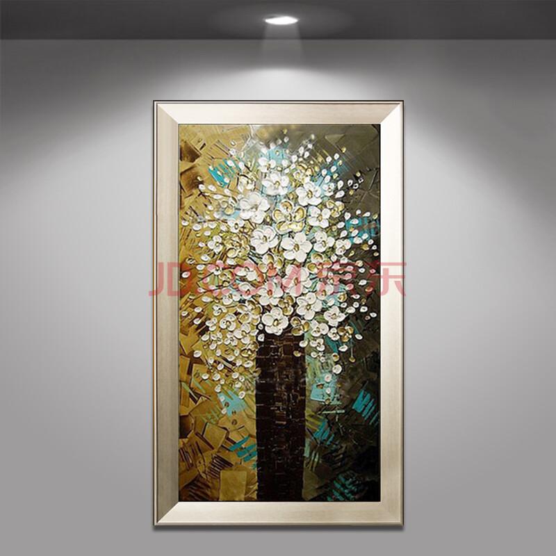 手绘油画家居玄关过道走廊挂画现代装饰画竖版 有框壁画抽象挂画竖版