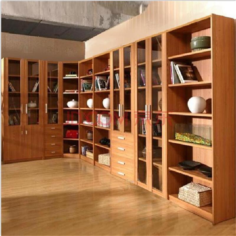 桃源世家 现代简约书房家具转角书柜书架自由组合柜物价展示柜现生产