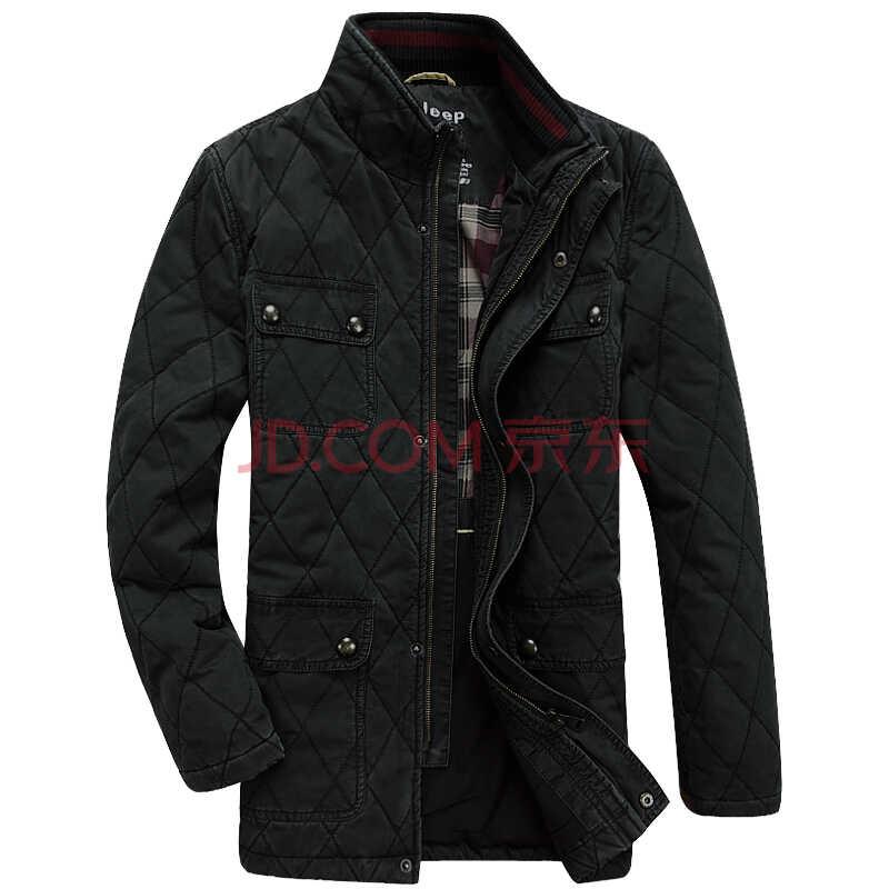 战地吉普Afs Jeep男士冬季新款棉服休闲保暖立领棉衣保暖男装外套 Z8351 黑色 XXL