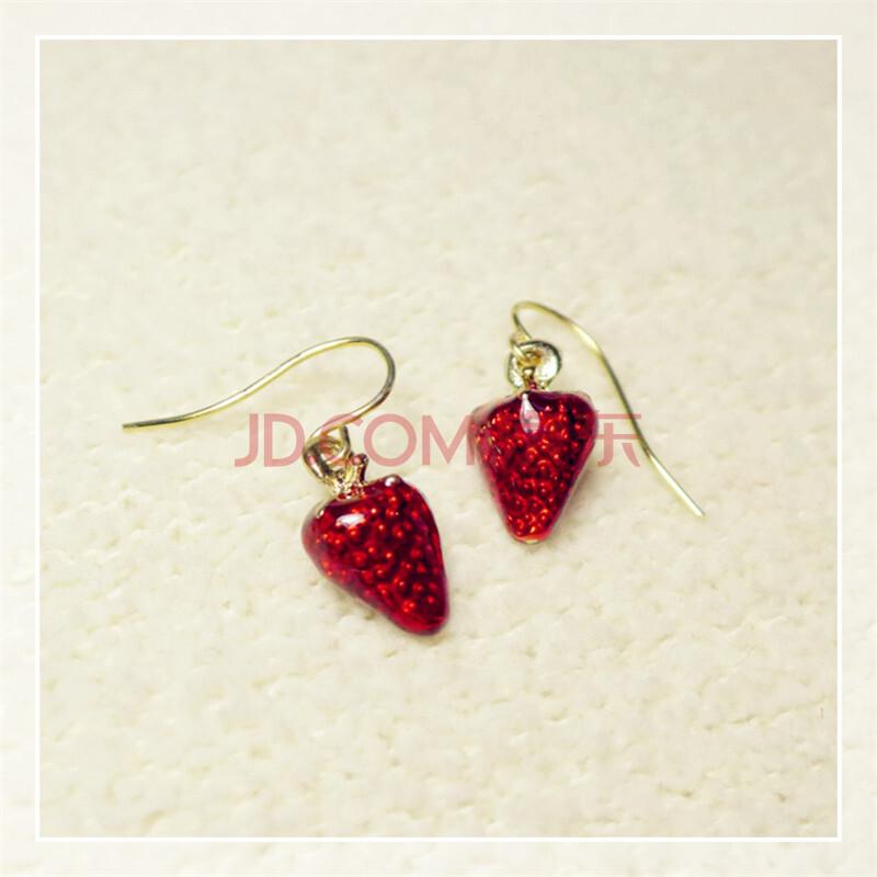 东赏韩版小清新水果草莓耳环