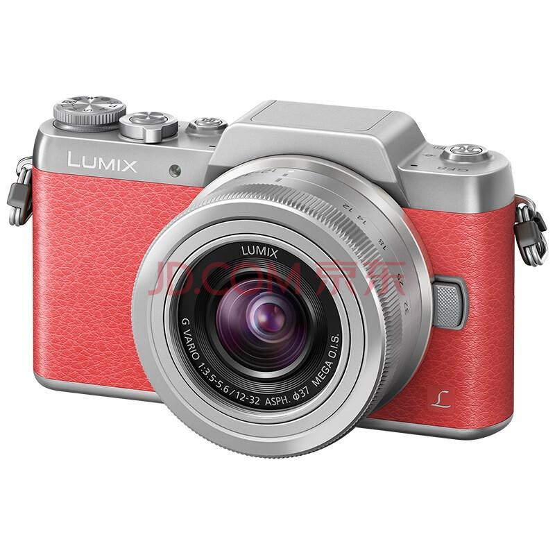 """松下数码相机(Panasonic)Lumix DMC-GF8 微单电镜套机 蜜桃粉 标准套机版 """"女朋友8号""""美颜自拍神器(12-32mm DMC-GF8KGK-P)"""