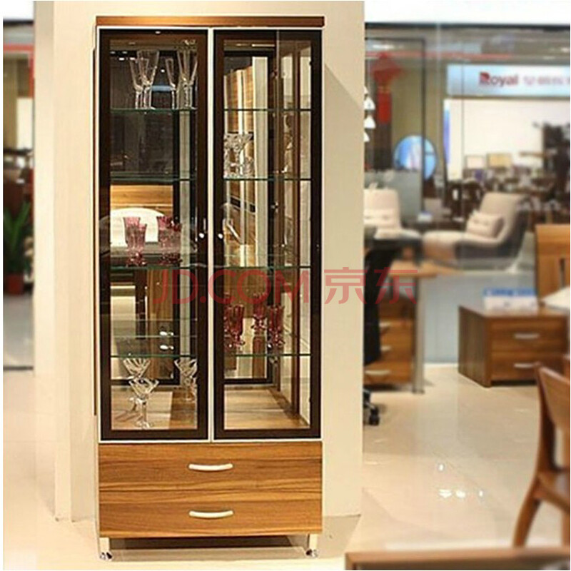 美福豪现代简约客厅酒柜玻璃隔断开门多功能储物柜玄关隔断间厅柜