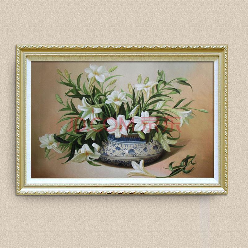 山迪 手绘油画客厅有框装饰画餐厅挂画壁画欧式墙画花卉 g23花卉72x