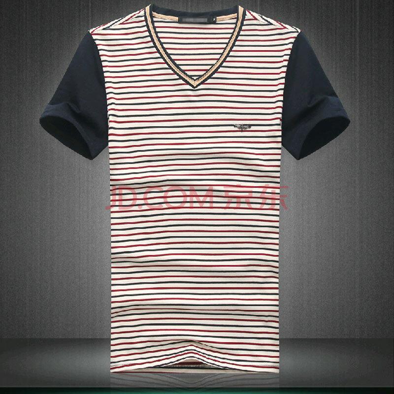 jp色图_2014夏装新款男士高档条纹短袖t恤jp338 7226 图色 xxxl