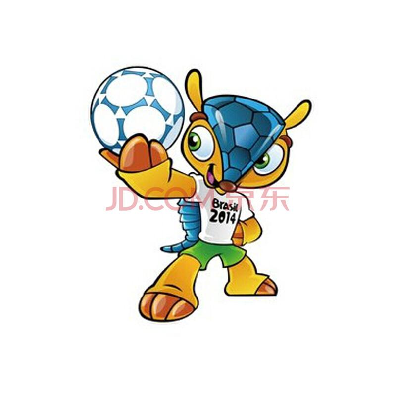 2014巴西世界杯车贴吉祥物犰狳汽车车身车门贴纸巴西世界杯会徽车贴图片