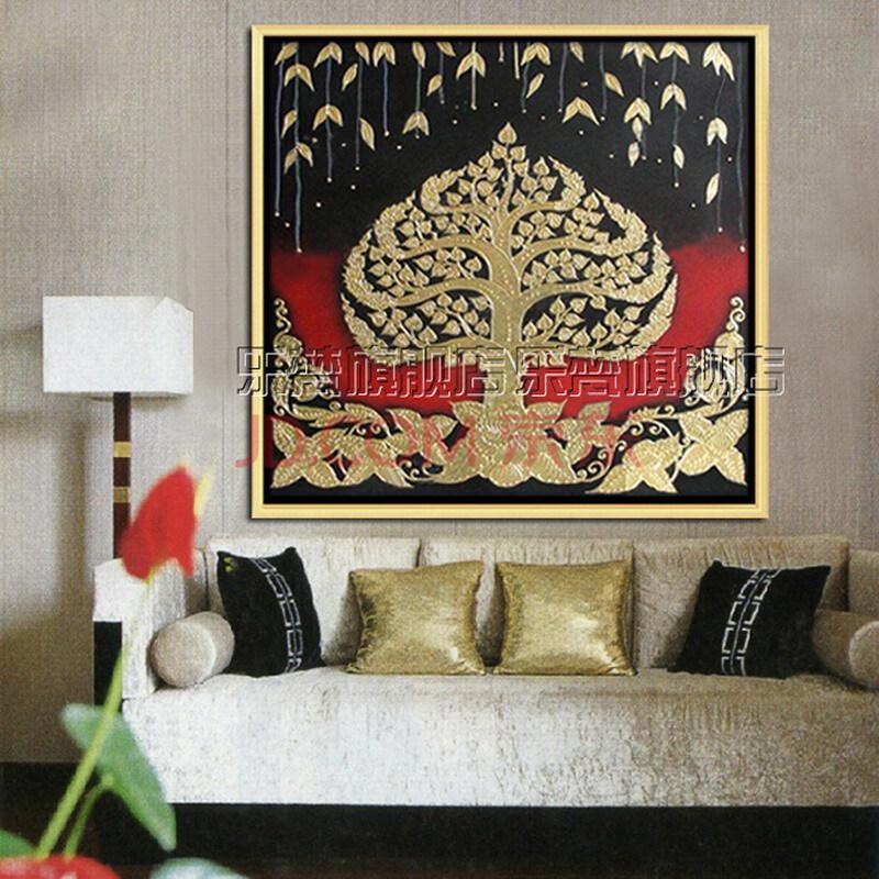 东南亚风格壁画酒店挂