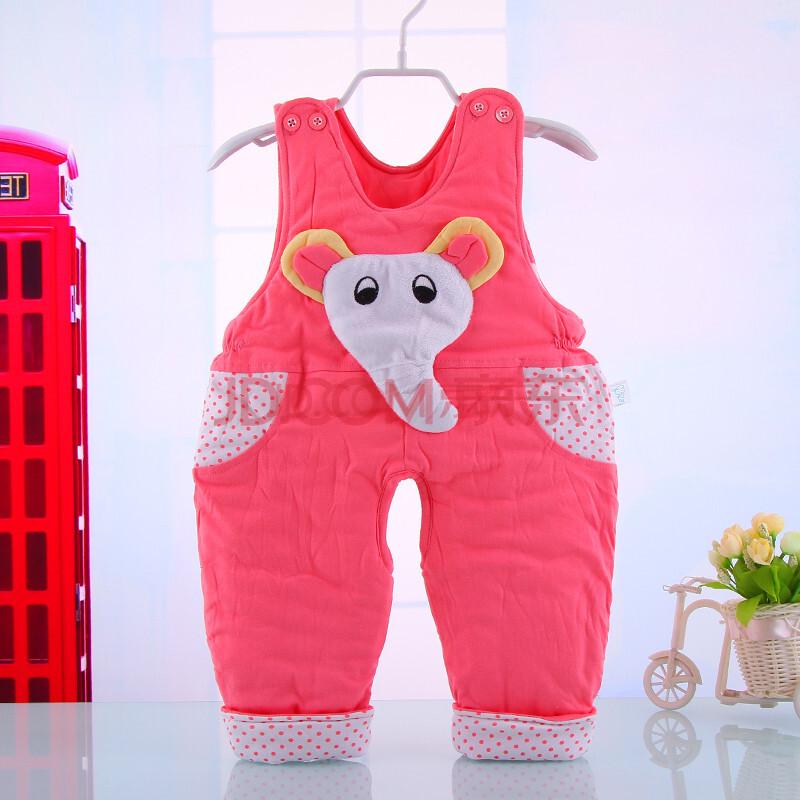 新款男女童背带裤婴幼儿宝宝背带裤冬装 外出服装 小象背带裤加厚